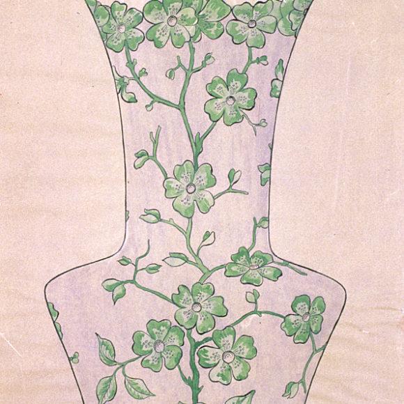 Vase natal décor violettes